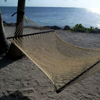 Caribbean Rope Polyester Tree Hammock Color: Cream