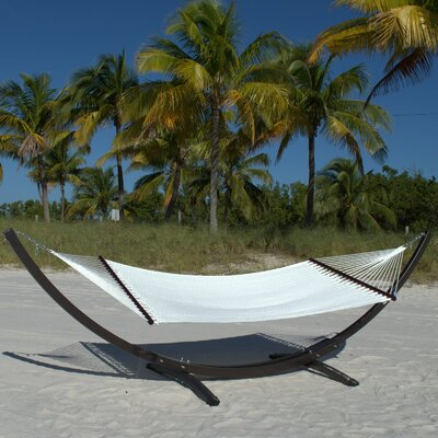 Caribbean Double Polyester Hammock Color: White