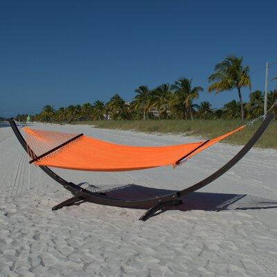 Caribbean Double Polyester Hammock Color: Orange