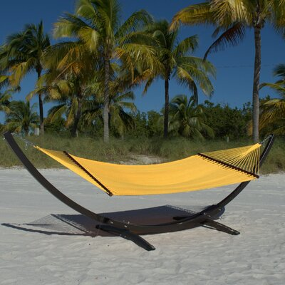 Caribbean Double Polyester Hammock Color: Yellow