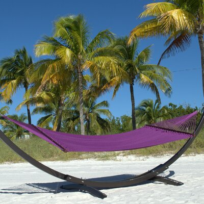 Caribbean Double Polyester Hammock Color: Purple