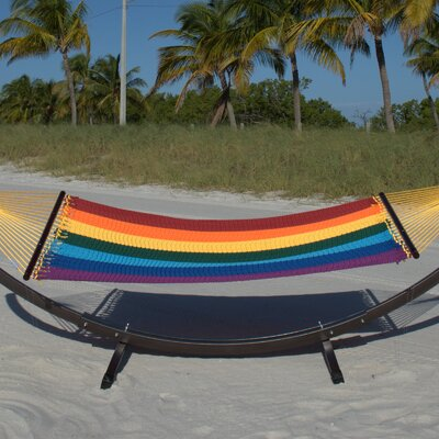 Caribbean Double Polyester Hammock Color: Rainbow