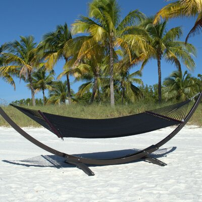 Caribbean Double Polyester Hammock Color: Jet Black