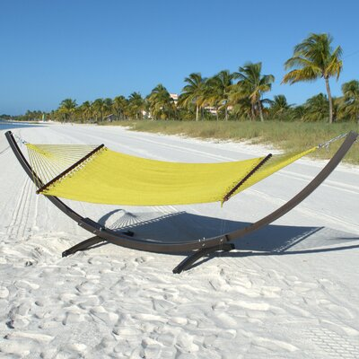 Caribbean Double Polyester Hammock Color: Olive