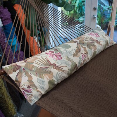Caribbean Double Hammock Bolster Pillow Color: Tropical