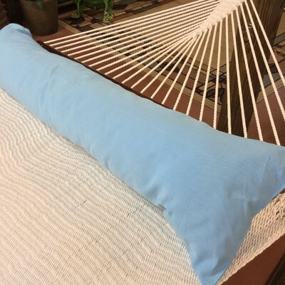 Caribbean Double Hammock Bolster Pillow Color: Light Blue