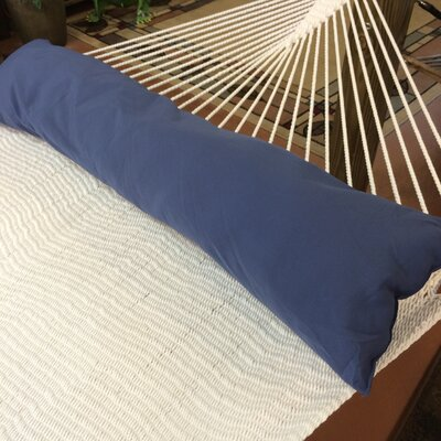 Caribbean Double Hammock Bolster Pillow Color: Dark Blue