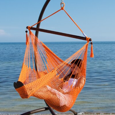 Caribbean Polyester Chair Hammock Color: Orange
