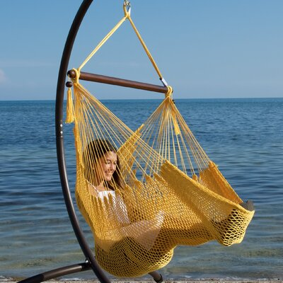 Caribbean Polyester Chair Hammock Color: Yellow