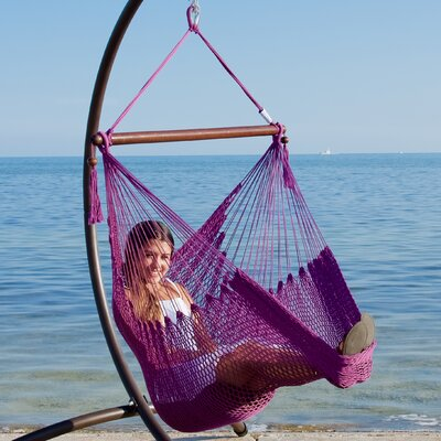 Caribbean Polyester Chair Hammock Color: Purple