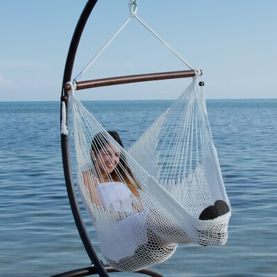 Caribbean Polyester Chair Hammock Color: White