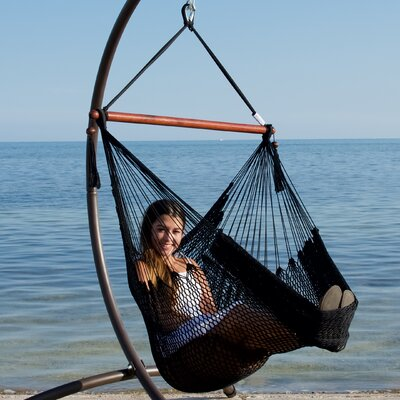 Caribbean Polyester Chair Hammock Color: Black