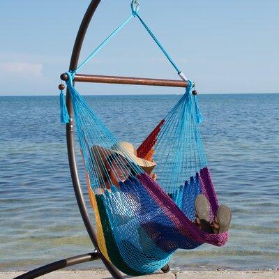 Caribbean Polyester Chair Hammock Color: Rainbow