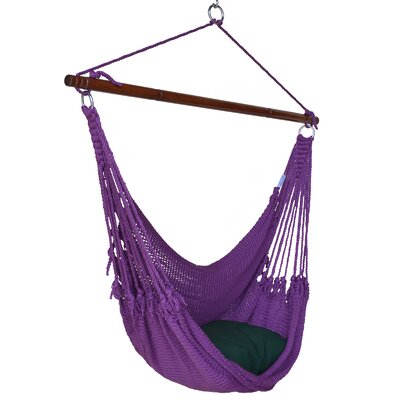 Jumbo Caribbean Polyester Chair Hammock Color: Purple