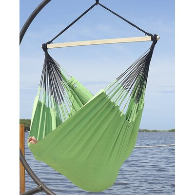 Caribbean Jumbo Lounger Chair Hammock Color: Lime