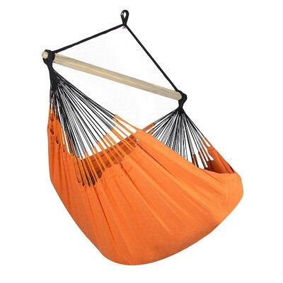 Caribbean Jumbo Lounger Chair Hammock Color: Tangerine