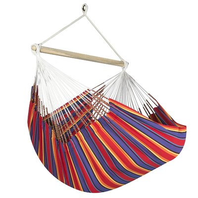 Caribbean Jumbo Lounger Chair Hammock Color: Red/Blue