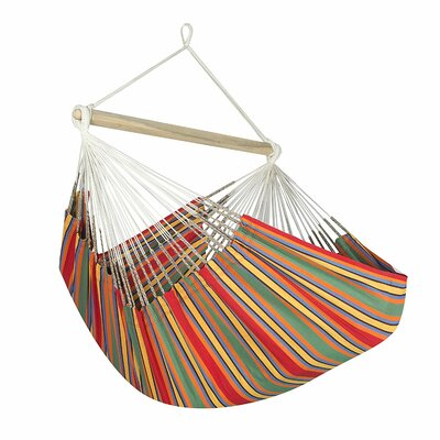 Caribbean Jumbo Lounger Chair Hammock Color: Red/Green