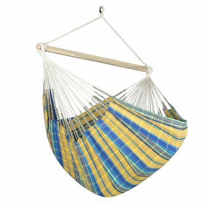 Caribbean Jumbo Lounger Chair Hammock Color: Yellow/Blue