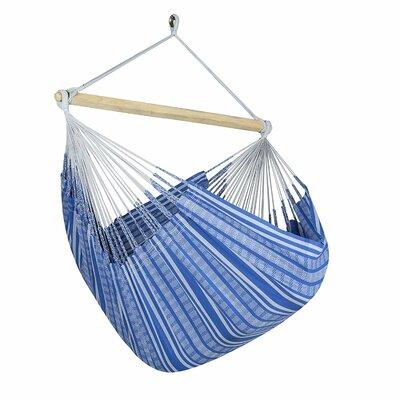 Caribbean Jumbo Lounger Chair Hammock Color: Blue/Gray