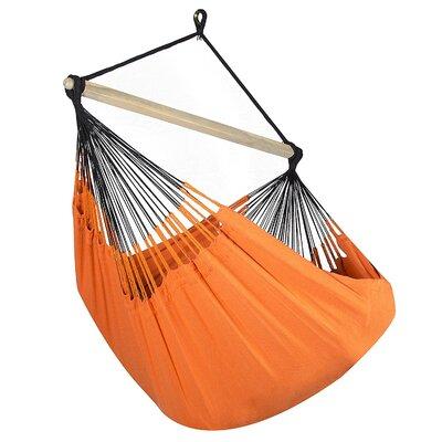 Caribbean Solid Chair Hammock Color: Tangerine
