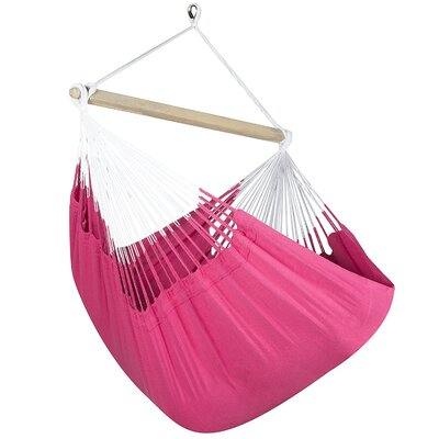 Caribbean Solid Chair Hammock Color: Hot Pink