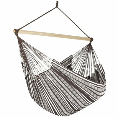 Caribbean Plaid Chair Hammock Color: Cocoa/Natural