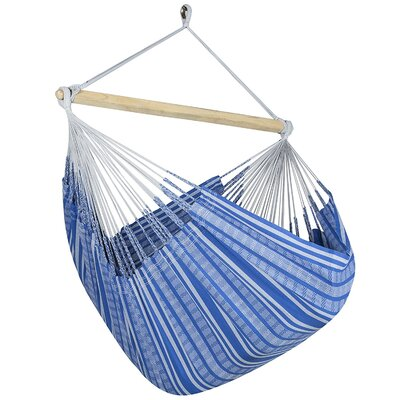Caribbean Plaid Chair Hammock Color: Blue/Gray
