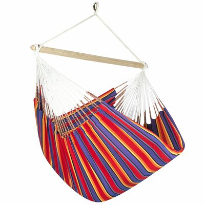 Caribbean Striped Chair Hammock Color: Red/Blue