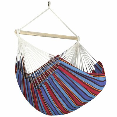 Caribbean Striped Chair Hammock Color: Blue