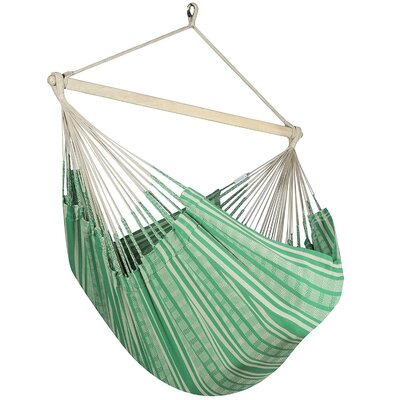 Caribbean Plaid Chair Hammock Color: Green/Beige