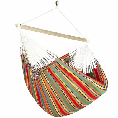 Caribbean Striped Chair Hammock Color: Red/Green