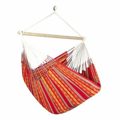 Caribbean Jumbo Lounger Chair Hammock Color: Orange/Red