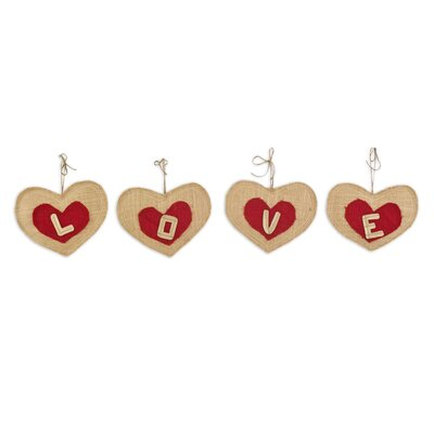 "4 Piece ""love"" Heart Banner Letter Set"