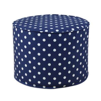 Ikat Dot Sunshine Round Corded Foam Ottoman be20c3017