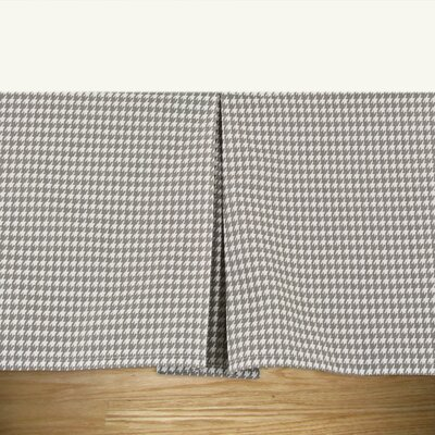 Furniture-Houndstooth Storm Twill Pleated Bed Skirt Size Daybed