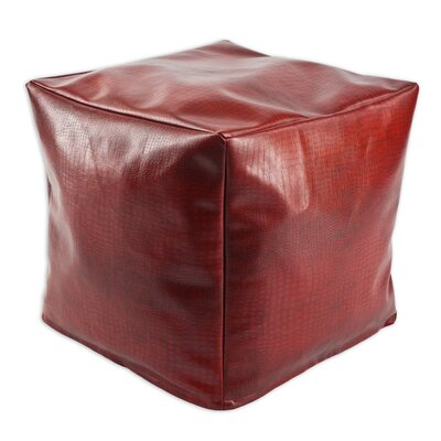 Glade Runner Square Seamed Beads Ottoman Size: 17