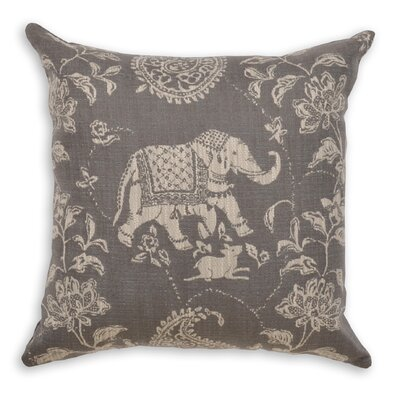 Furniture-Isabelle Smoke Throw Pillow Size 22 H x 22 W x 4 D