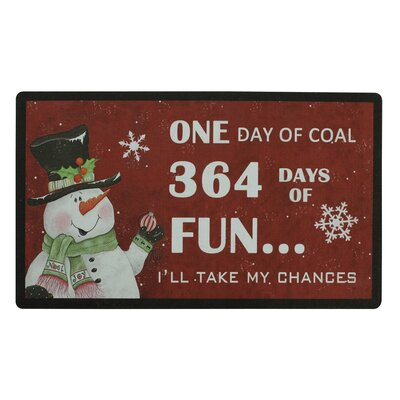 Christmas Trimmed Doormat