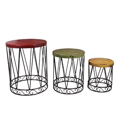 Nostalgia 3 Piece Nesting Tables