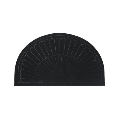 Semi Circle Doormat Color: Black