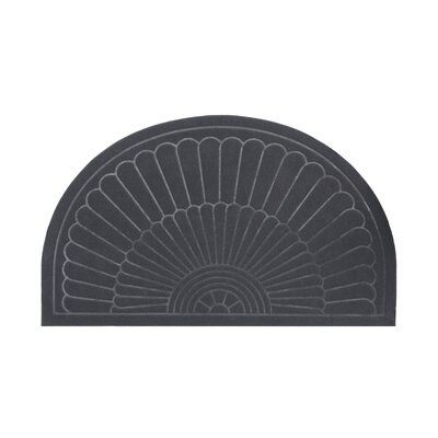 Semi Circle Doormat Color: Gray