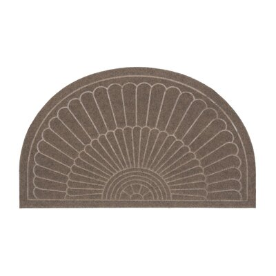 Canaan Semi Circle Doormat Color: Coffee