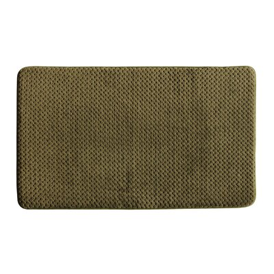 Memory Foam Bath Rug Color: Forest Green