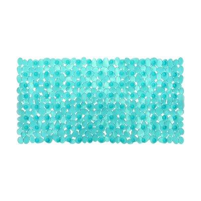 Non-Slip Shower Mat Size: 28 L x 14 W x 1 D, Color: Teal