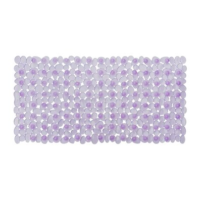 Non-Slip Shower Mat Size: 28 L x 14 W x 1 D, Color: Purple