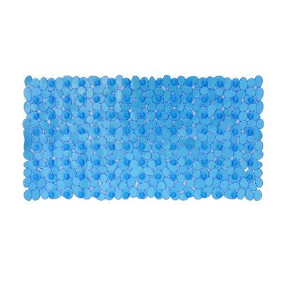 Non-Slip Shower Mat Size: 28 L x 14 W x 1 D, Color: Blue