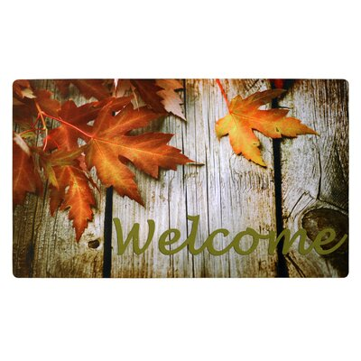 Leaf Welcome Doormat