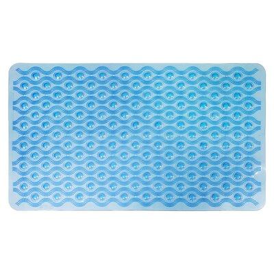 Non-Slip Wave Bath Mat Color: Blue