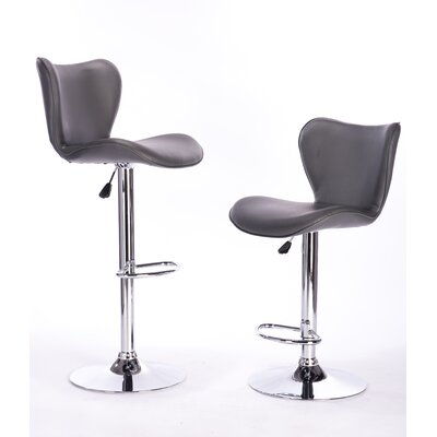 Adjustable Height Swivel Bar Stool Color: Grey